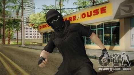 GTA Online: Black Army Skin v1 for GTA San Andreas