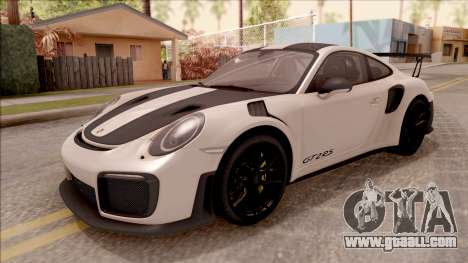 Porsche 911 GT2 RS Weissach Package SA Plate for GTA San Andreas
