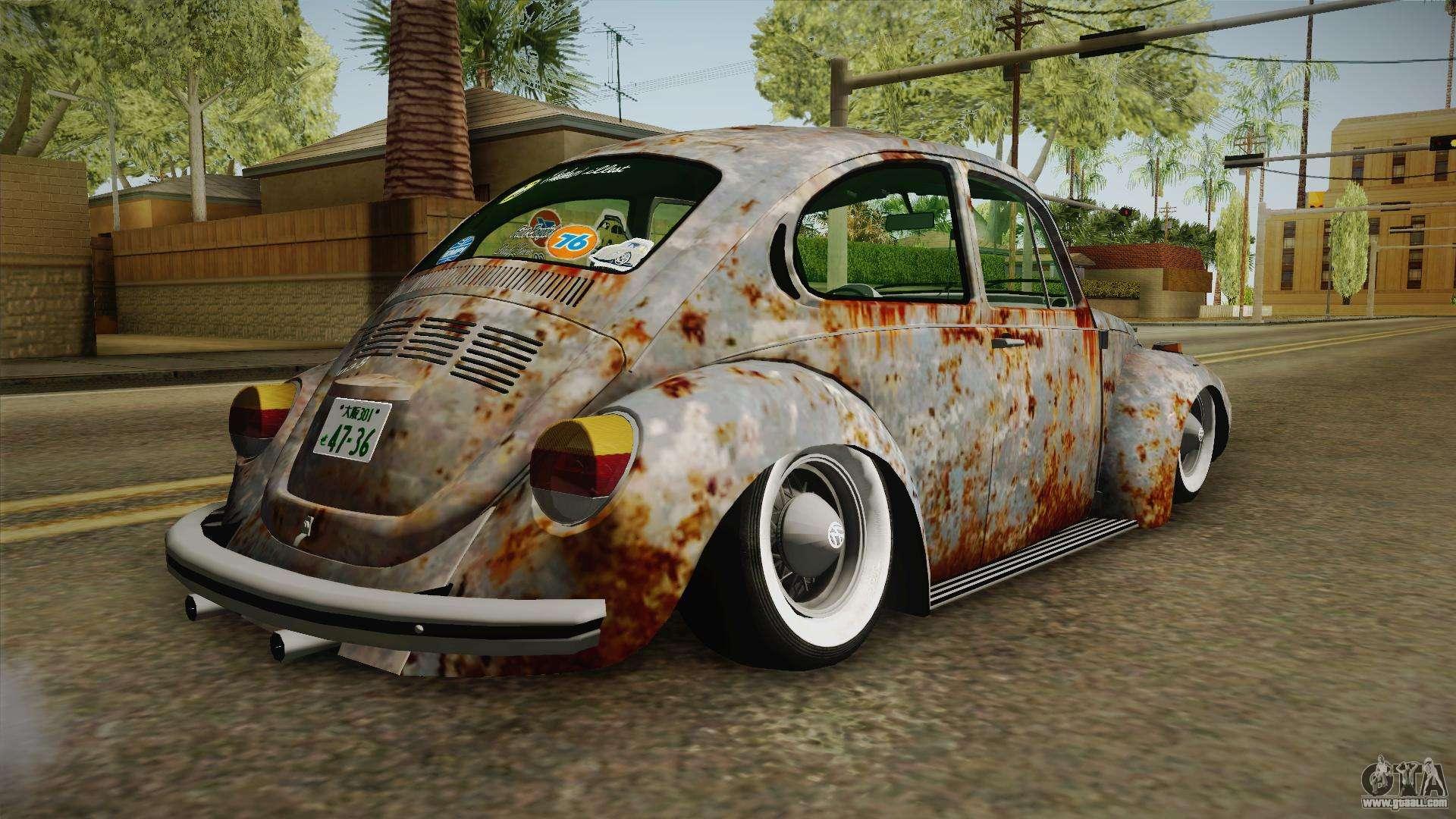 2017 Volkswagen Beetle Hatchback >> Volkswagen Beetle Rusty for GTA San Andreas