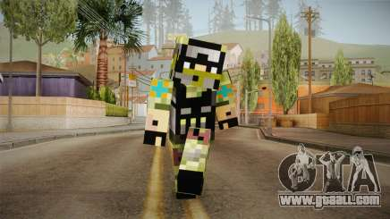 Minecraft Swat Skin for GTA San Andreas