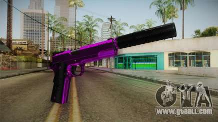 Purple Silenced Pistol for GTA San Andreas