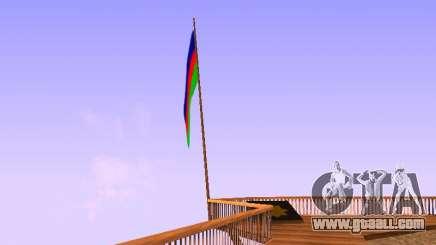 Azerbaijan Flag on Mount Chiliad for GTA San Andreas