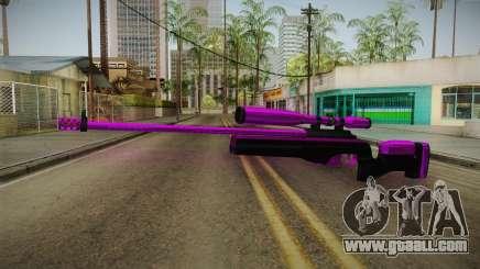 Purple Sniper Rifle for GTA San Andreas