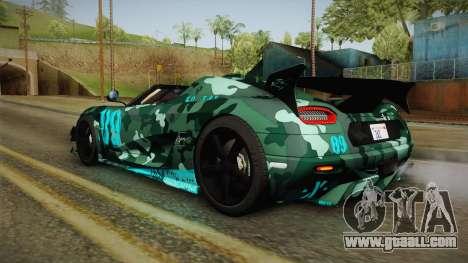 Koenigsegg Agera RS v3 for GTA San Andreas wheels