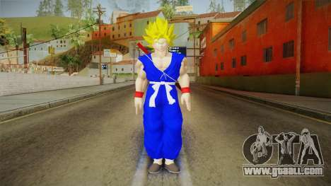 Goku Original DB Gi Blue v3 for GTA San Andreas second screenshot