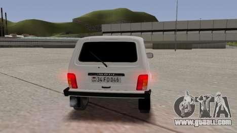 Niva Dorjar 34 FD 046 for GTA San Andreas inner view