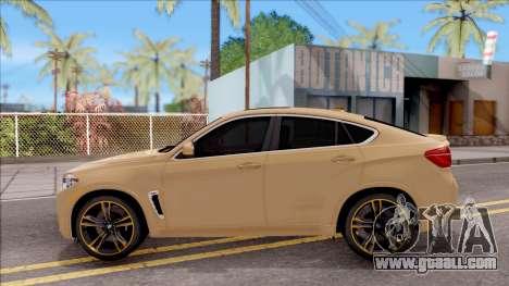 BMW X6M F86 2016 SA Plate for GTA San Andreas left view