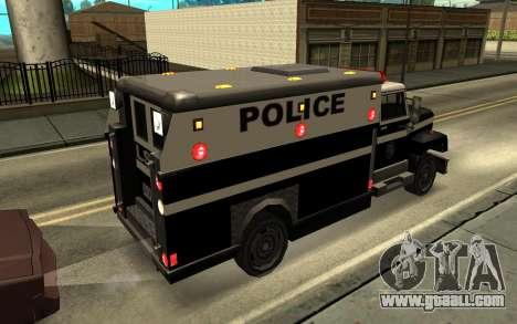Enforcer под ELM for GTA San Andreas left view