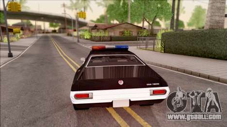 Ford Gran Torino Police LVPD 1972 v4 for GTA San Andreas back left view