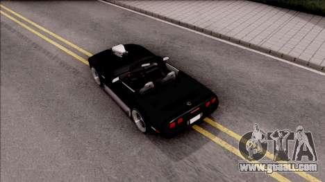 Chevrolet Corvette C4 1996 Cabrio for GTA San Andreas back view