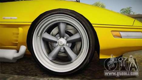 Chevrolet Corvette C4 Cabrio 1996 for GTA San Andreas back view