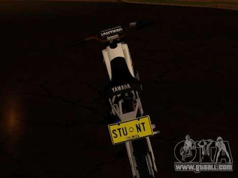 Yamaha DT 175 Stunt for GTA San Andreas back view
