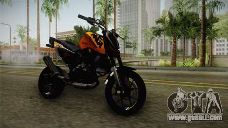 KTM Duke 690 for GTA San Andreas back left view