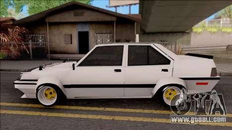 Proton Saga 1985 Widebody ver. for GTA San Andreas left view