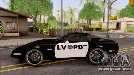 Chevrolet Corvette C4 Police LVPD 1996 for GTA San Andreas left view