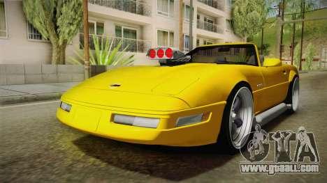 Chevrolet Corvette C4 Cabrio 1996 for GTA San Andreas back left view