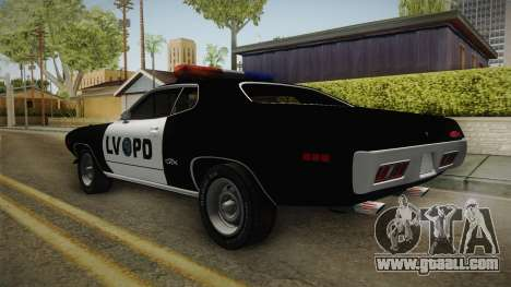 Plymouth GTX Police LVPD 1972 for GTA San Andreas left view