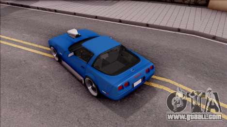 Chevrolet Corvette C4 1996 for GTA San Andreas back view