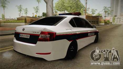 Skoda Octavia Police for GTA San Andreas right view