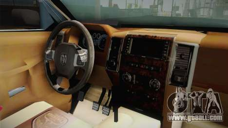 Dodge Ram Technical for GTA San Andreas inner view