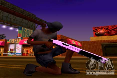 Iridescent Pink And White Pack Of Weapons for GTA San Andreas third screenshot