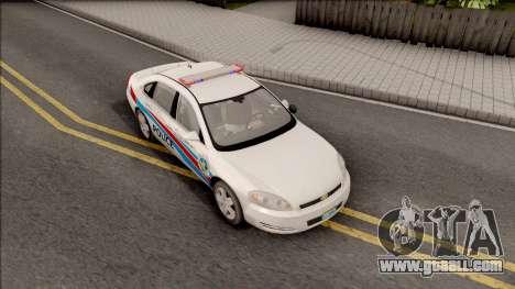 Chevrolet Impala Las Venturas Police Department for GTA San Andreas right view