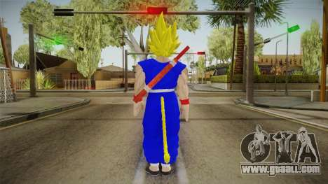 Goku Original DB Gi Blue v3 for GTA San Andreas third screenshot