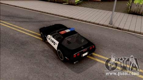 Chevrolet Corvette C4 Police LVPD 1996 for GTA San Andreas back view