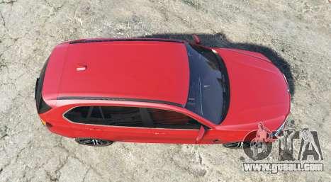 GTA 5 BMW X5 M (F85) 2016 [add-on] back view