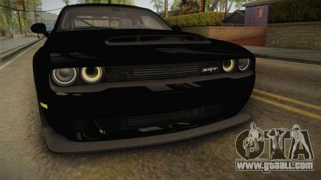 Dodge Challenger 2017 Drag for GTA San Andreas upper view
