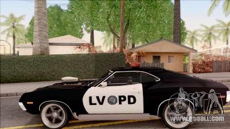 Ford Gran Torino Police LVPD 1972 v4 for GTA San Andreas left view