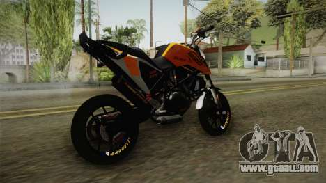 KTM Duke 690 for GTA San Andreas right view