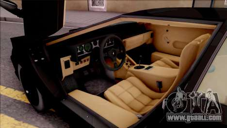 Lamborghini Countach 1988 for GTA San Andreas inner view