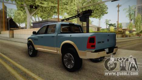Dodge Ram Technical for GTA San Andreas right view