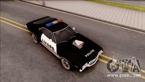 Ford Gran Torino Police LVPD 1972 v4 for GTA San Andreas right view