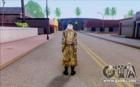 Geek in the cloak of S. T. A. L. K. E. R for GTA San Andreas third screenshot