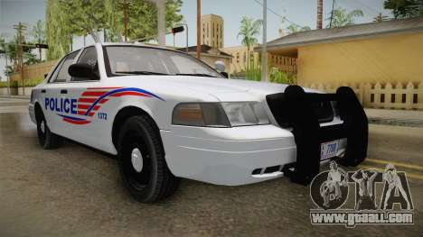 Ford Crown Victoria Police v2 for GTA San Andreas back left view