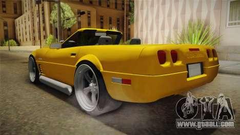 Chevrolet Corvette C4 Cabrio 1996 for GTA San Andreas right view