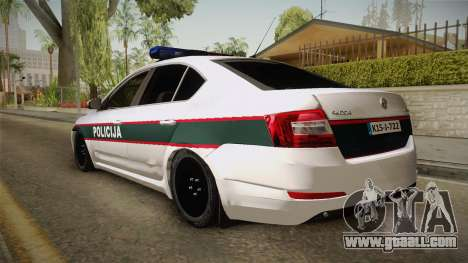 Skoda Octavia Police for GTA San Andreas left view