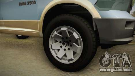 Dodge Ram Technical for GTA San Andreas back view
