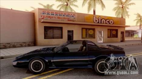 Knight Rider KITT 2000 for GTA San Andreas left view