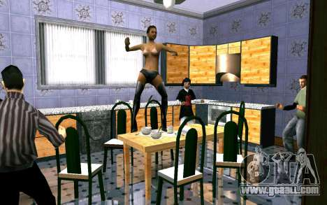 Party in house CJ for GTA San Andreas second screenshot