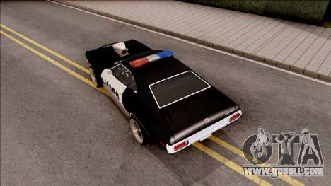 Ford Gran Torino Police LVPD 1972 v4 for GTA San Andreas back view