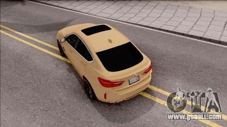 BMW X6M F86 2016 SA Plate for GTA San Andreas back view