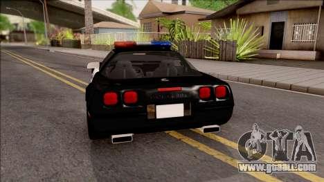 Chevrolet Corvette C4 Police LVPD 1996 for GTA San Andreas back left view