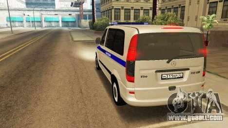Mercedes-Benz Vito FSB for GTA San Andreas right view