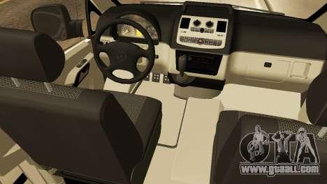 Mercedes-Benz Vito FSB for GTA San Andreas inner view