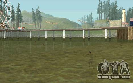 On the beaches people swim in the water for GTA San Andreas forth screenshot