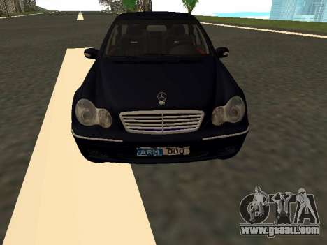 Mercedes-Benz C180 Armenian for GTA San Andreas inner view