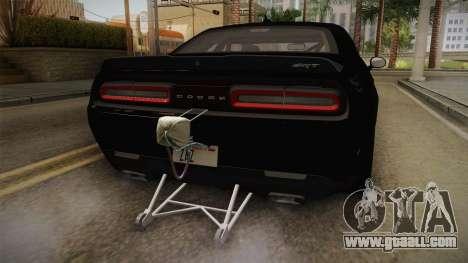 Dodge Challenger 2017 Drag for GTA San Andreas bottom view